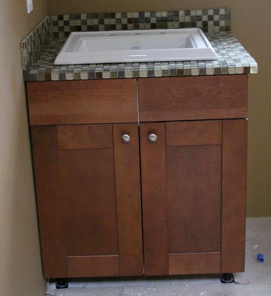Tiled Bathroom Vanity Tops