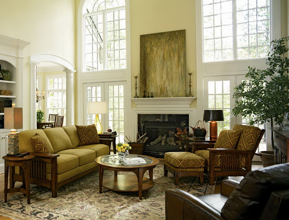 Traditional Living Room Furniture Placement