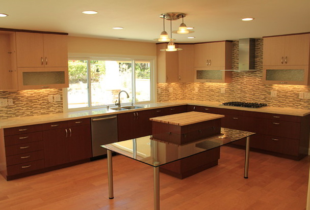 Two Tone Kitchen Cabinets Modern