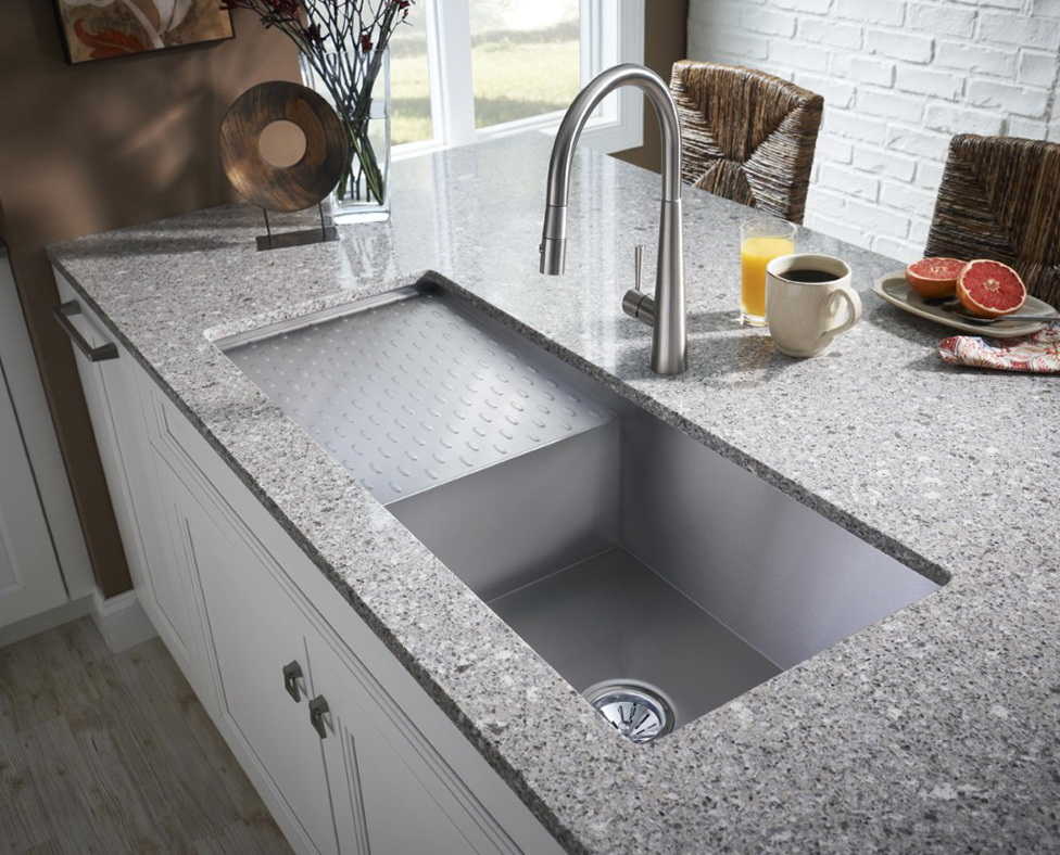 Undermount Kitchen Sink With Drainboard