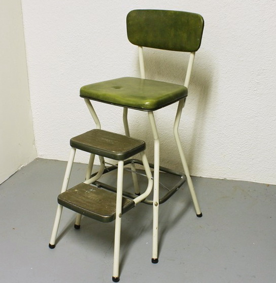 Vintage Kitchen Step Stool Chair