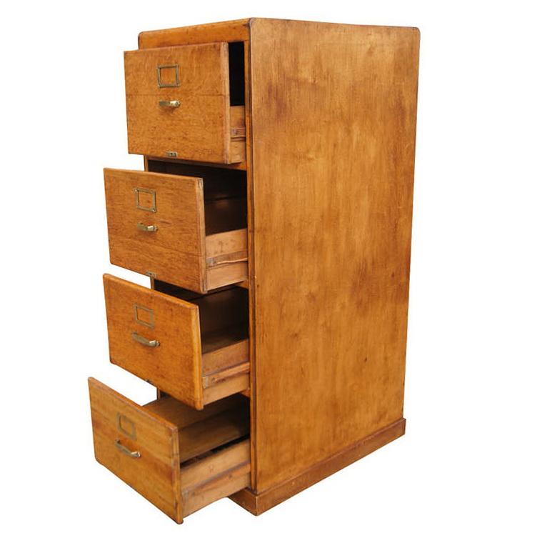 Vintage Wood File Cabinet