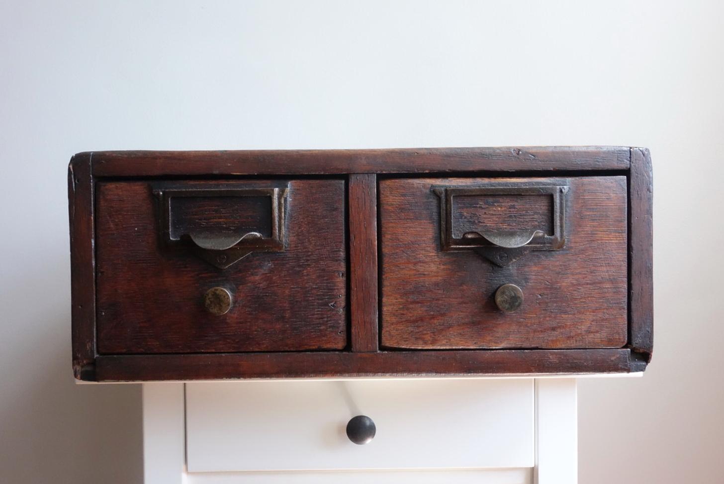 Vintage Wood Filing Cabinet
