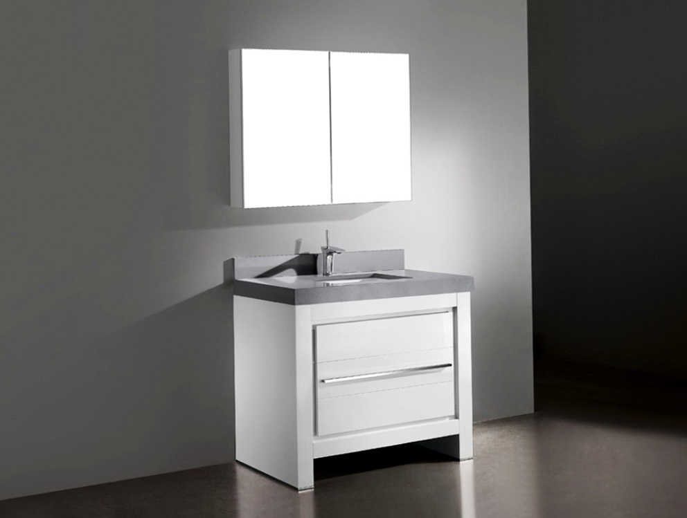 White 36 Inch Bathroom Vanity