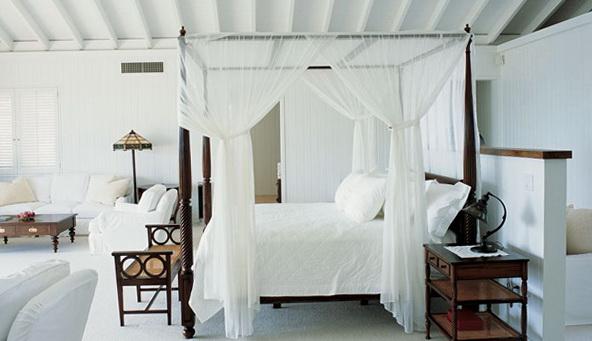 White Canopy Bed Full