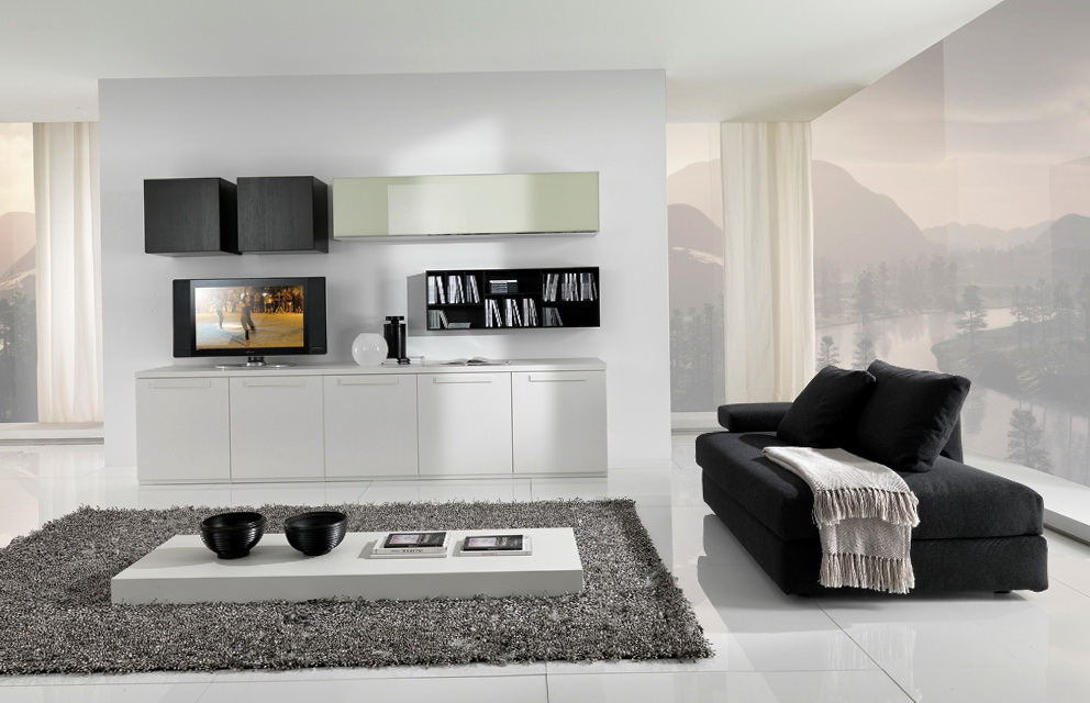 White Contemporary Living Room Furniture
