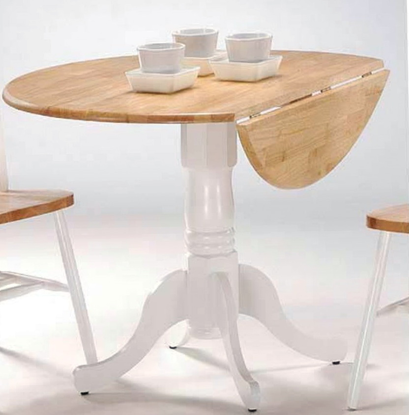 White Drop Leaf Kitchen Table