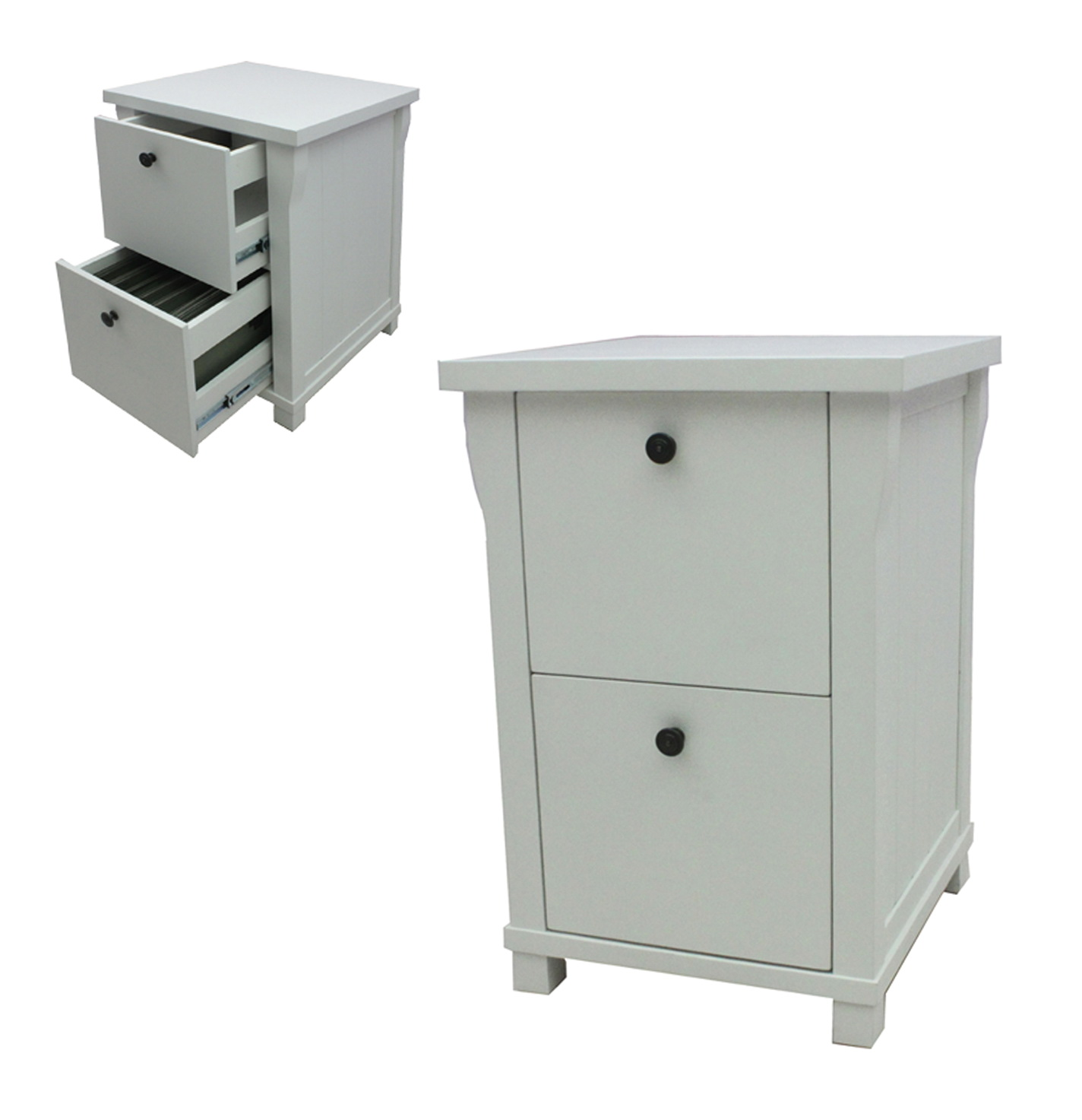 White File Cabinet Wood
