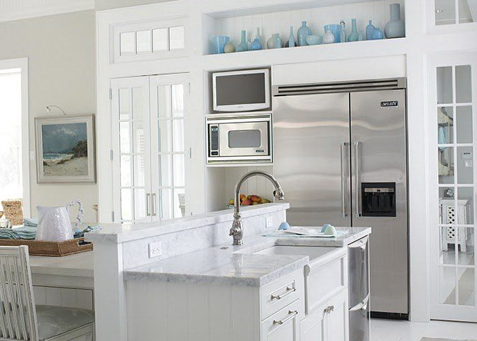 White Kitchen Ideas With White Appliances