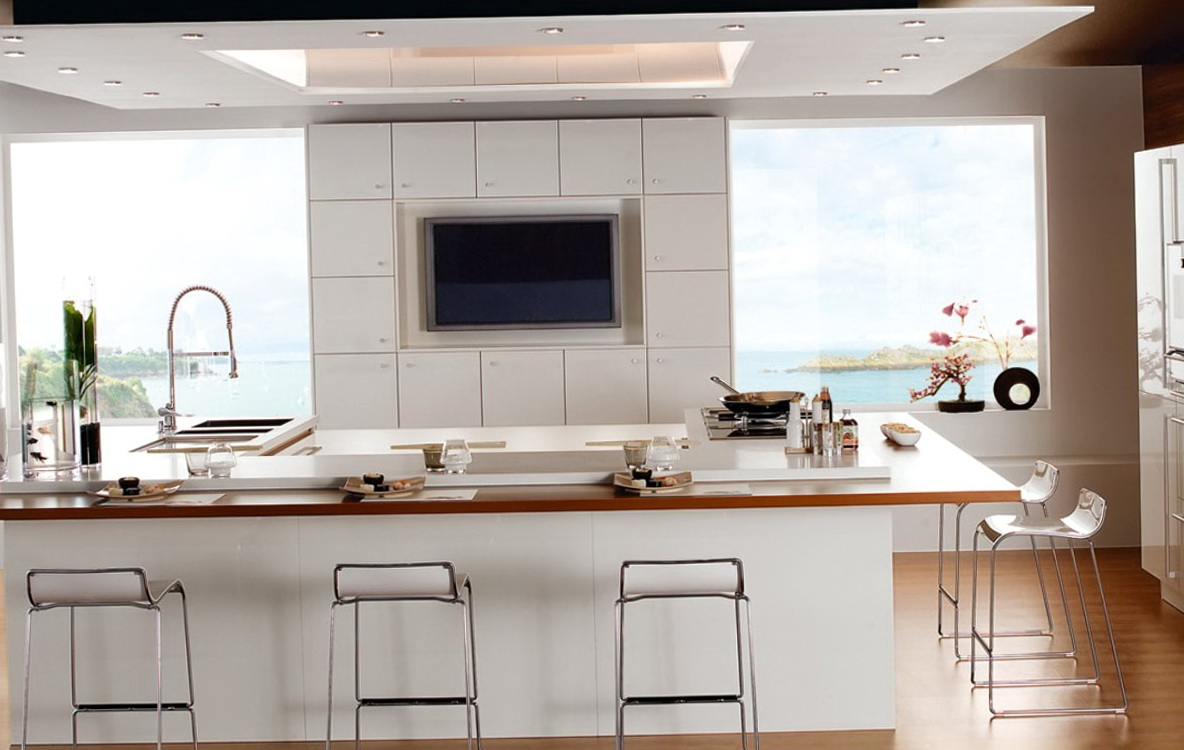 White Kitchen Island Designs