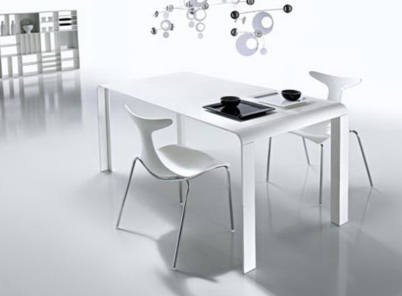 White Kitchen Table Modern