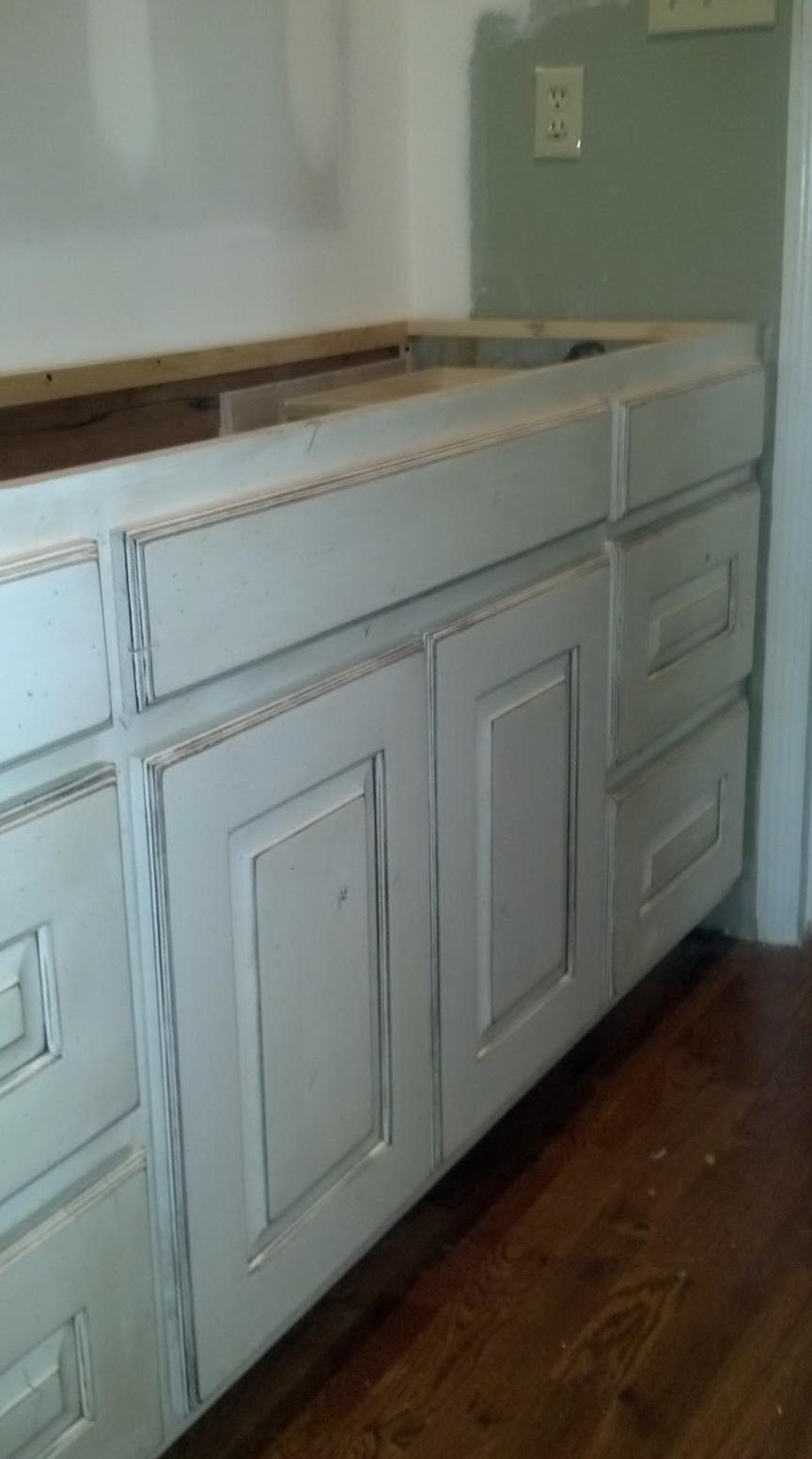 White Knotty Alder Cabinets