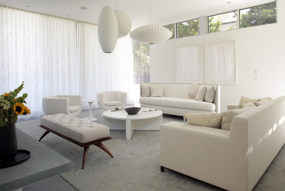 White Living Room Furniture Ideas