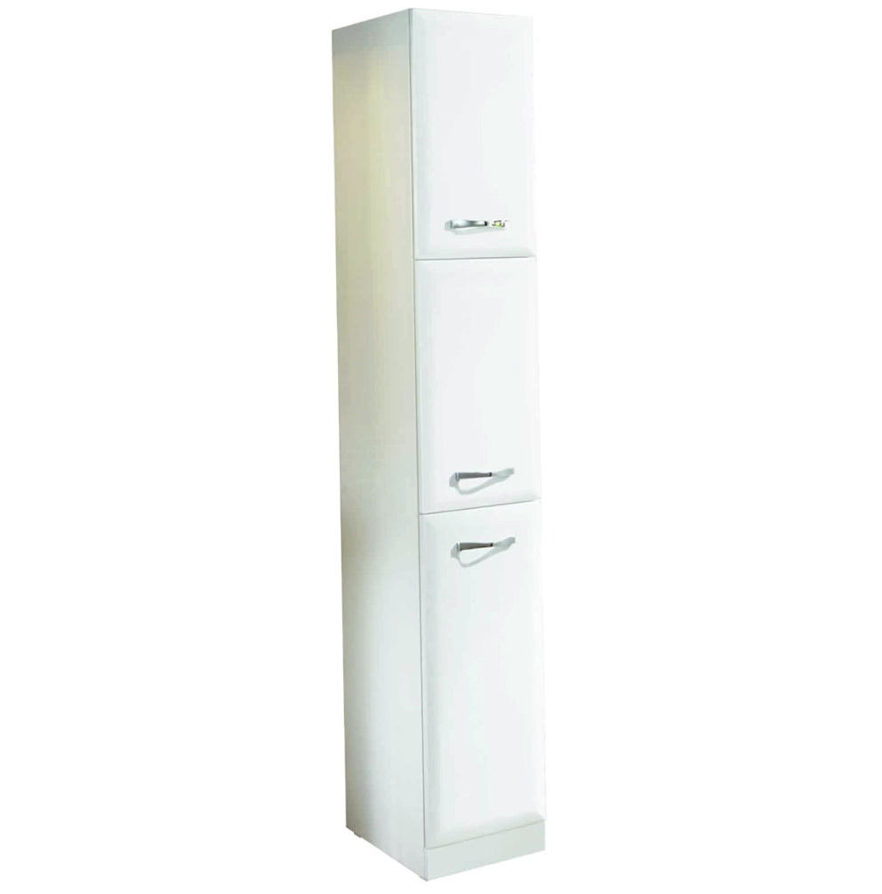 White Tall Storage Cabinet