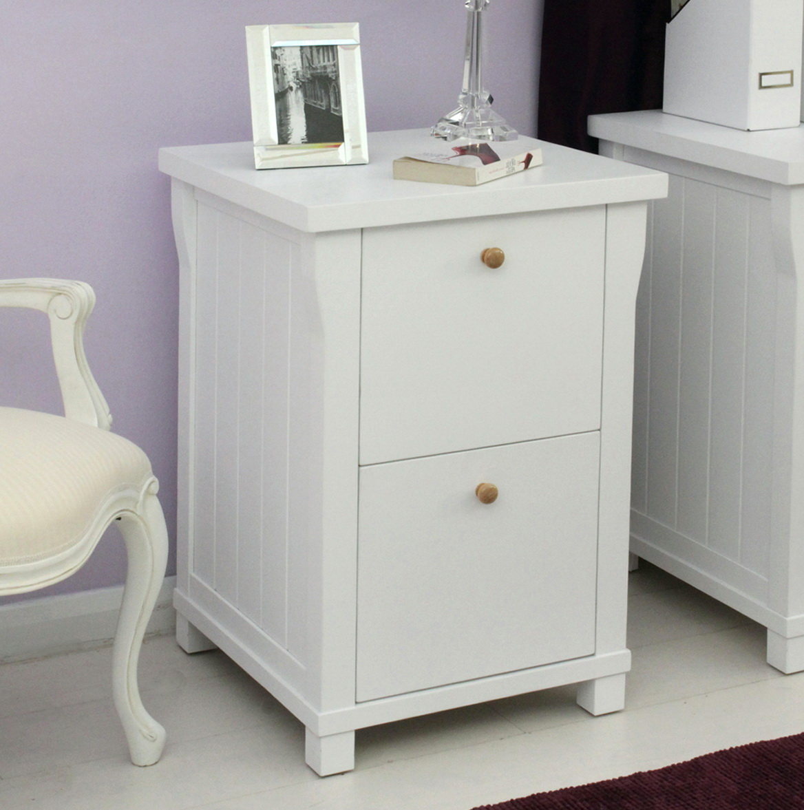 White Wood File Cabinets