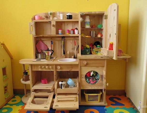 Wooden Kids Play Kitchen