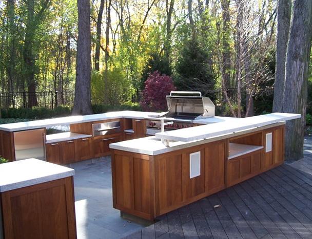 Wooden Outdoor Kitchen Cabinets