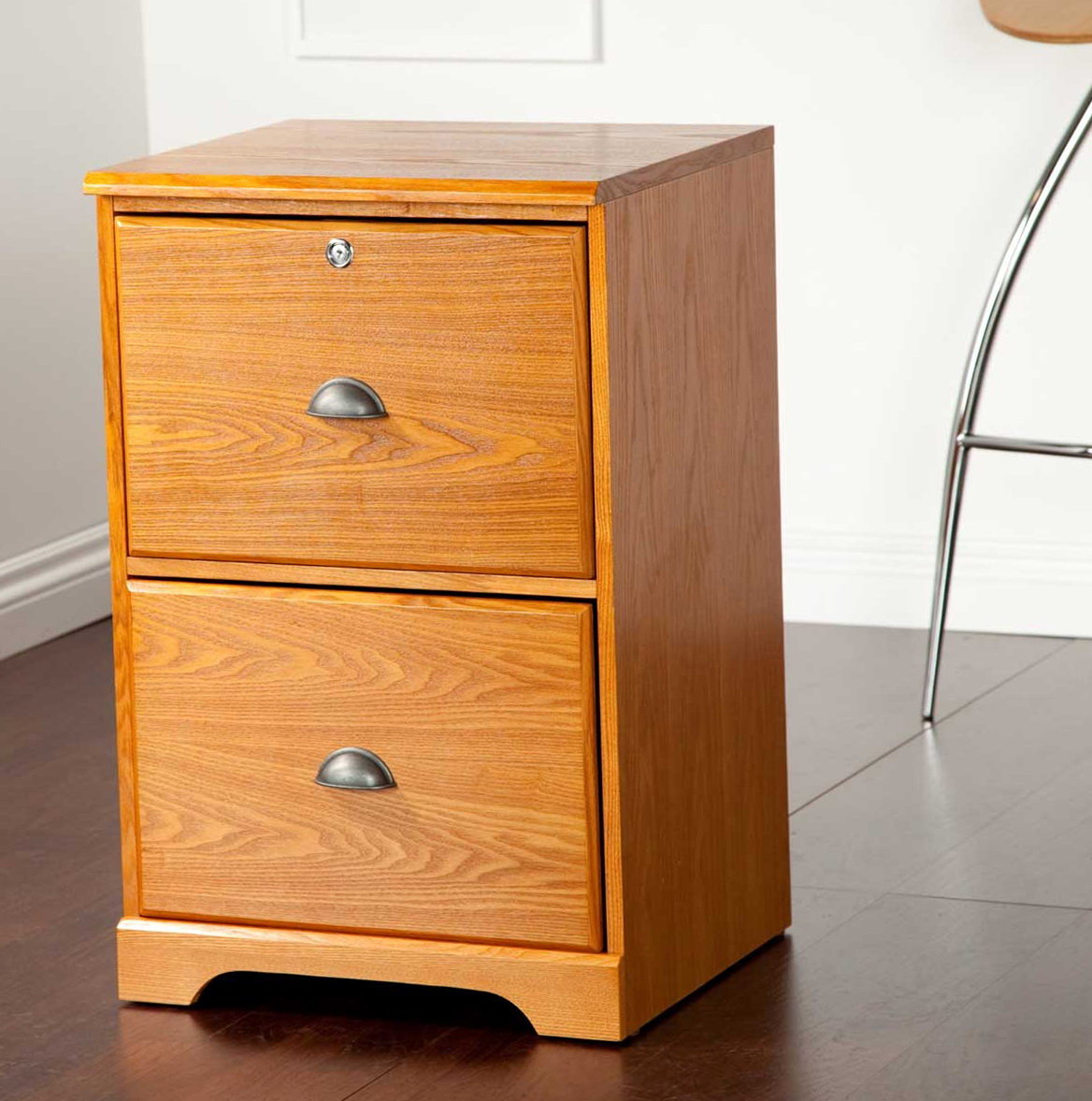 Wooden Two Drawer File Cabinet