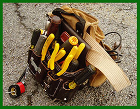 Electrician's Tool Pouch with Tools of the Trade