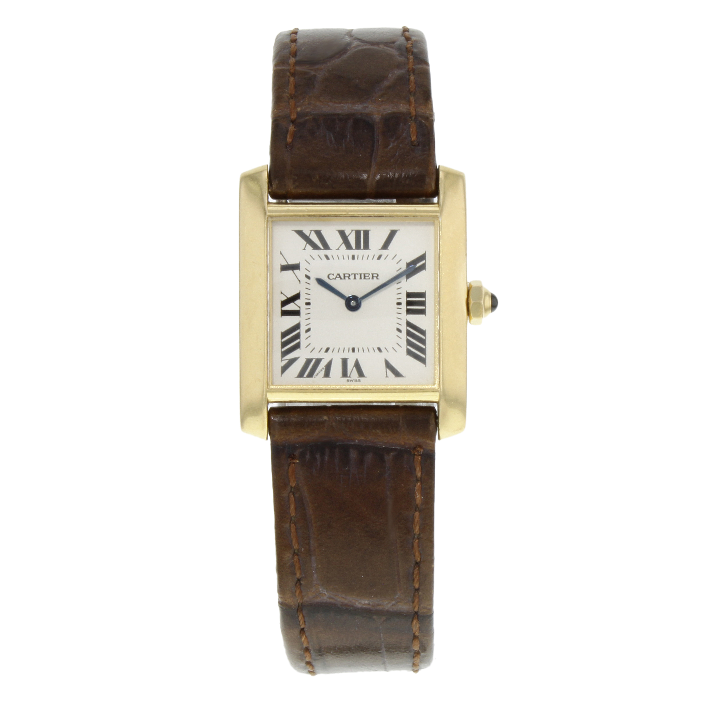 Cartier Tank Francaise Square Face 18K Yellow Gold Quartz Ladies     Cartier Tank Francaise Square Face 18K Yellow Gold Quartz Ladies Watch 1821
