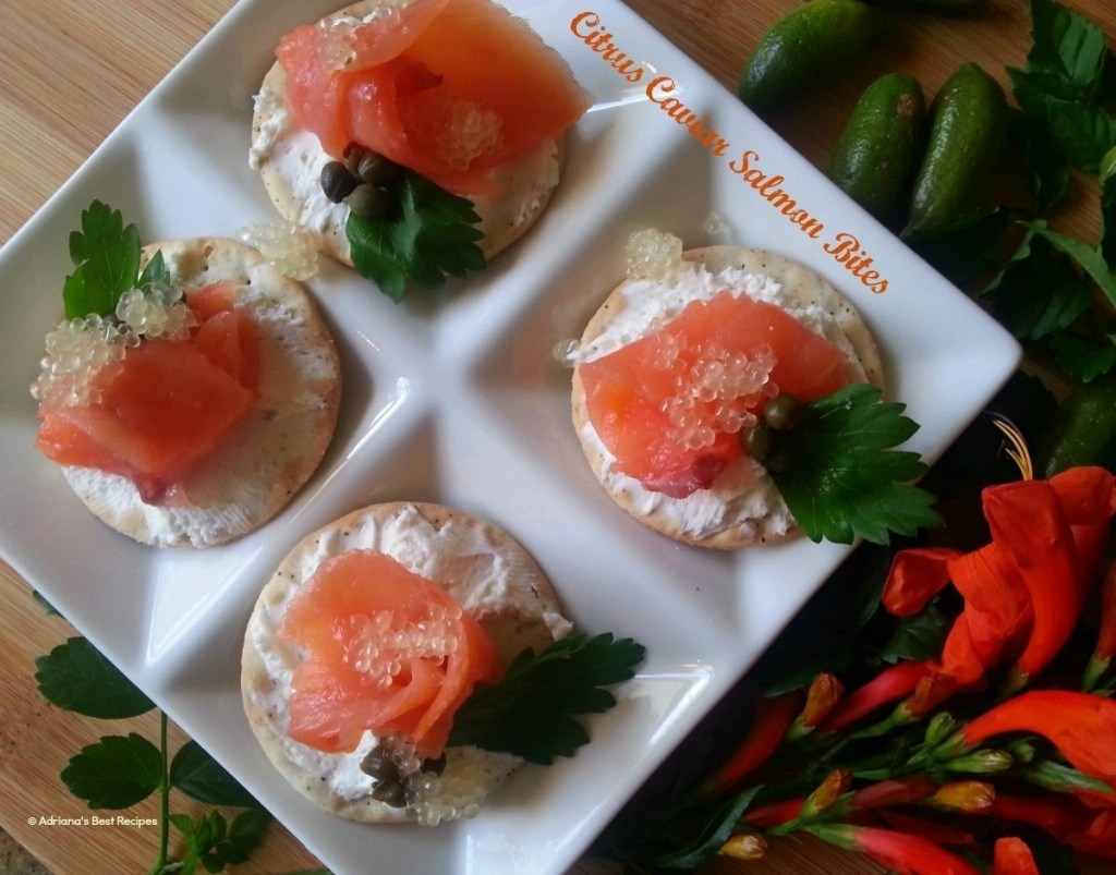Citrus Caviar Salmon Bites #ABRecipes