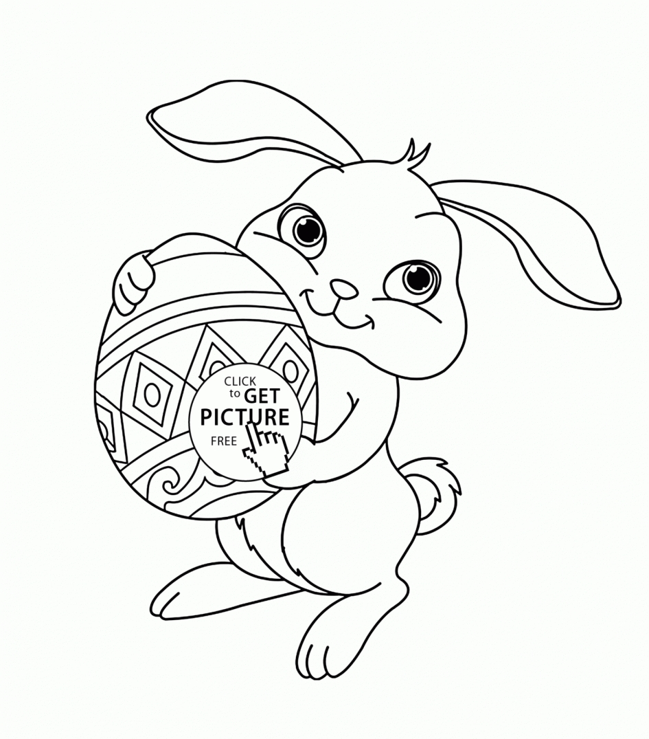 Easter Bunny Coloring Pages Free Printable Free Coloring Pages ...