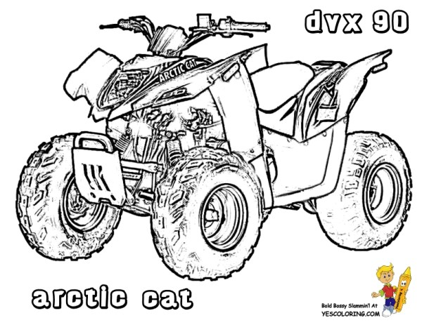 four wheeler coloring pages # 42
