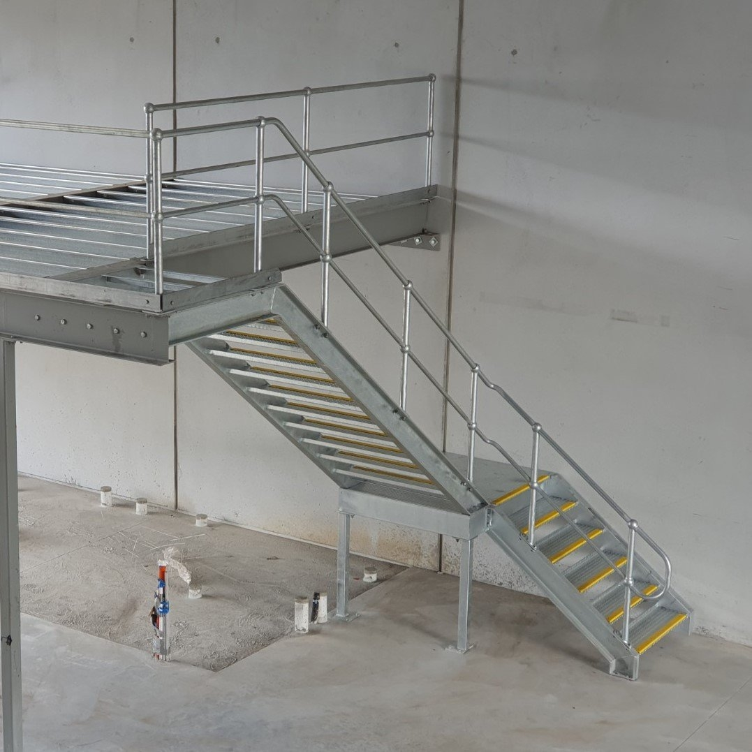 Prefab Stairs Industrial Steel Staircases Prefabricated Metal   External Steel Staircase Prices   Handrail   Porch   Deck   Stair Treads   Wrought Iron Railings