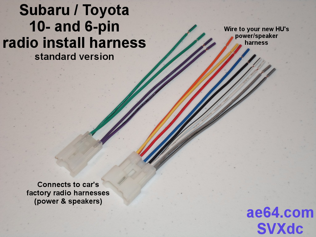 Subaru Stereo Wiring Harness Diagram