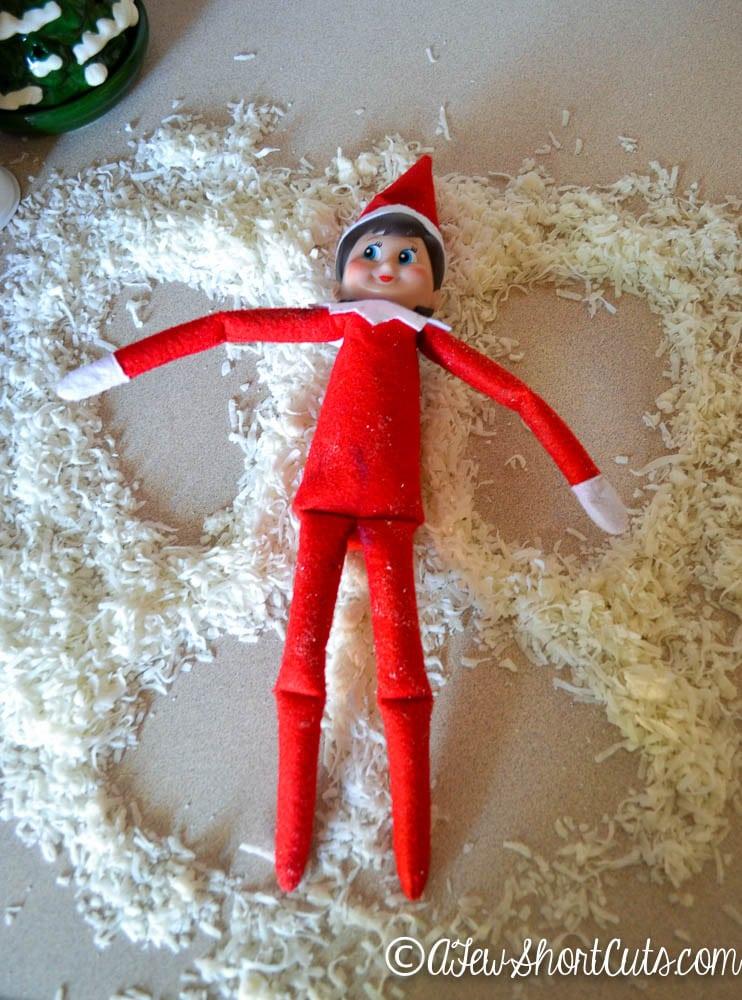 Elf On The Shelf Ideas Snow Angel A Few Shortcuts