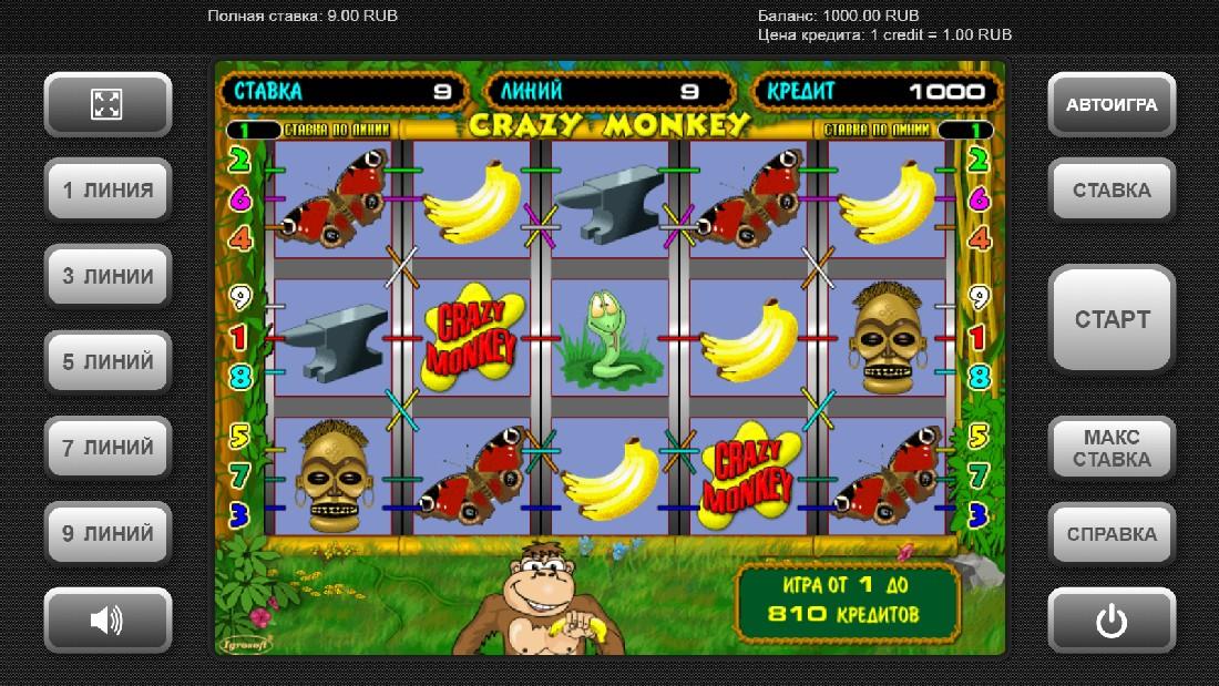 Игровые автоматы онлайн без регистрации crazy monkey игровые автоматы обзор игры