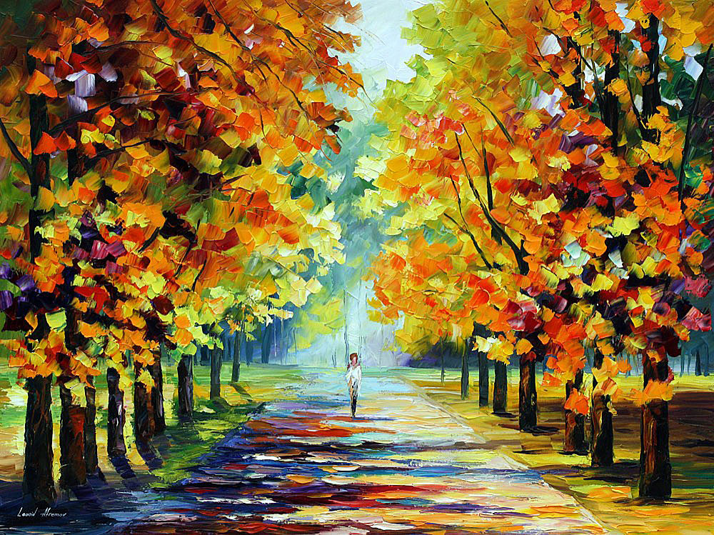 Sunny Morning Palette Knife Oil Painting On Canvas By