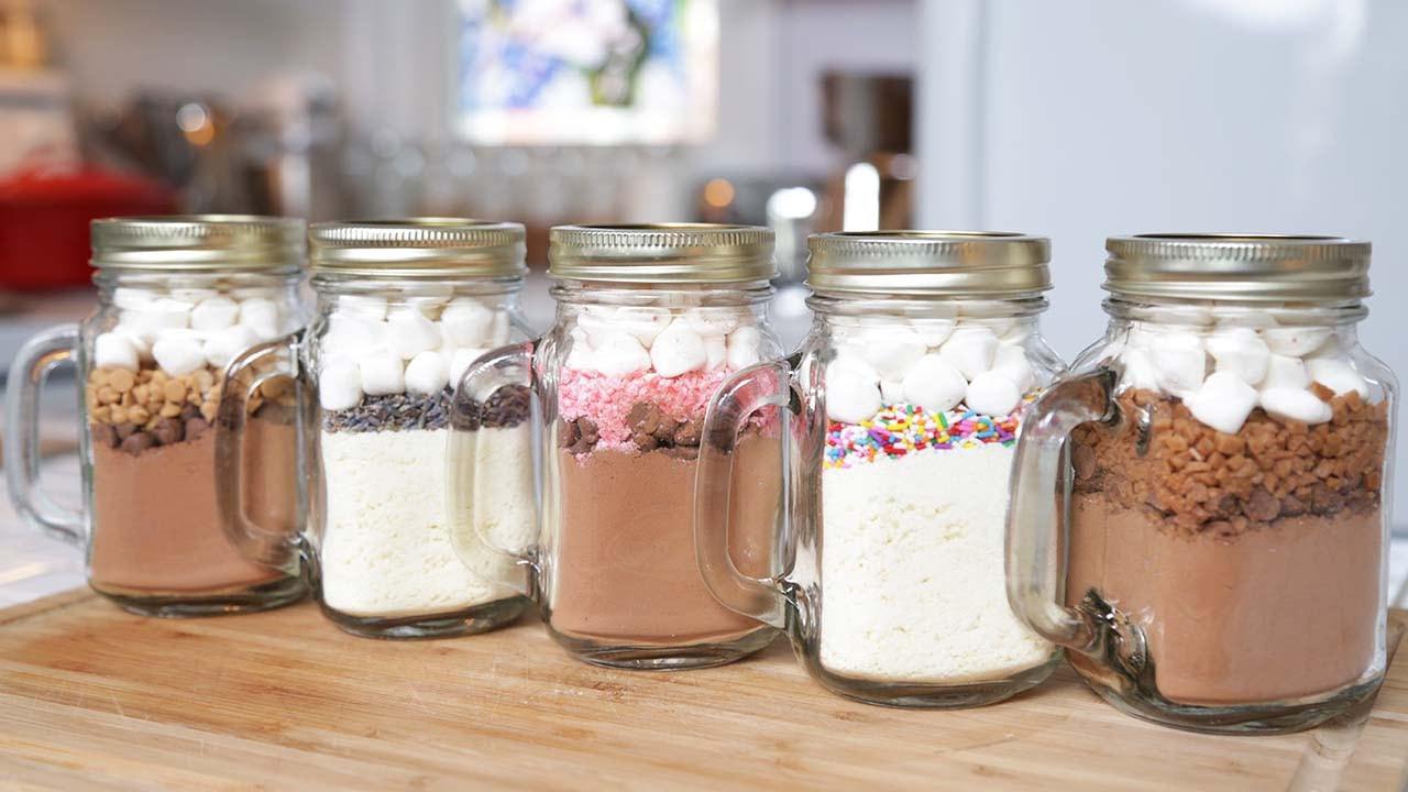 How To Make 5 Hot Chocolate In A Jar Recipes
