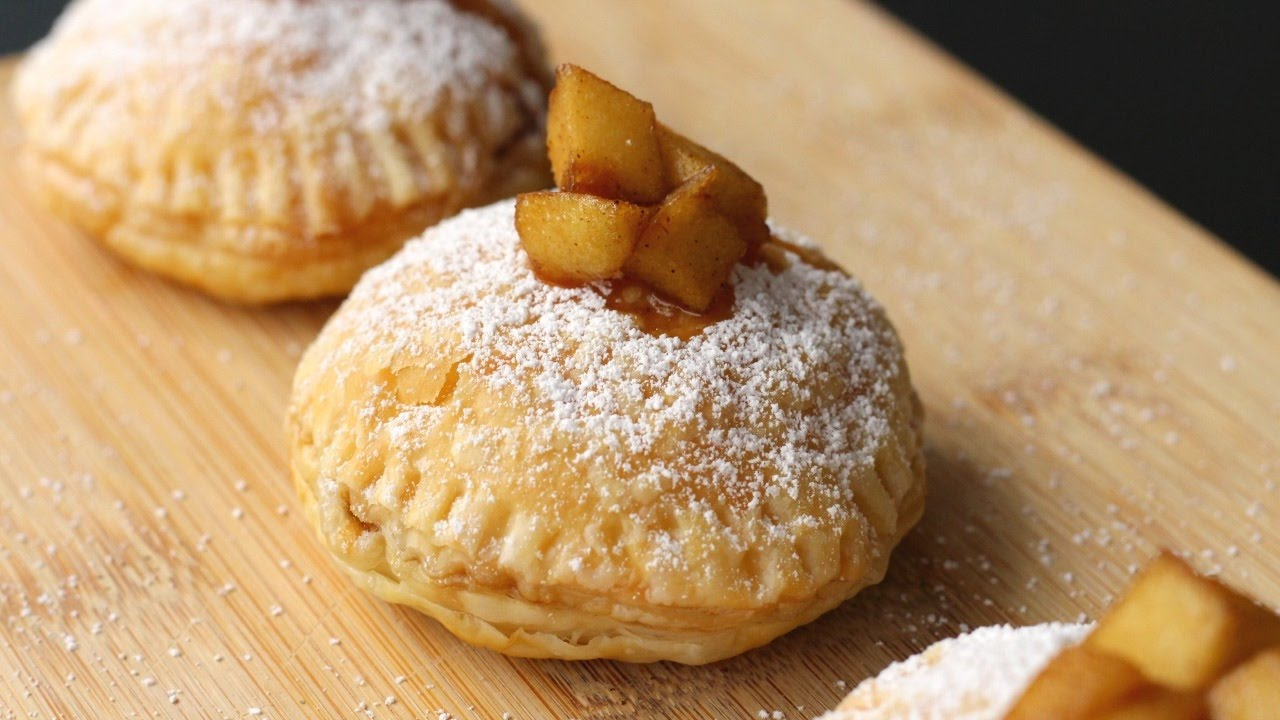 Yummy Apple Pie Puff Pastry Donuts