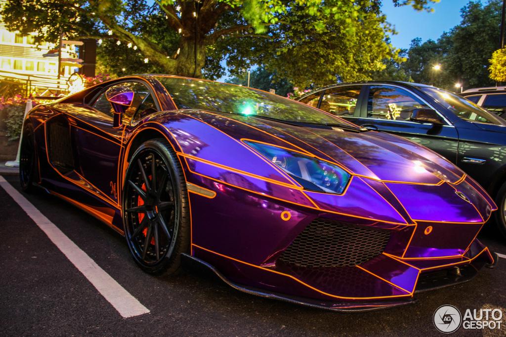 Rainbow Tron Lamborghini