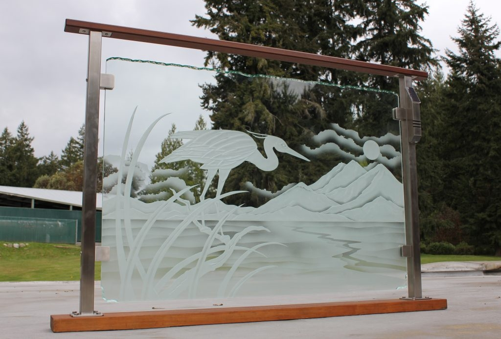 Custom Clearview® Etched Glass Railing System | Frosted Glass Stair Panels | Smoked | Toughened | Deck | Balcony | Contemporary