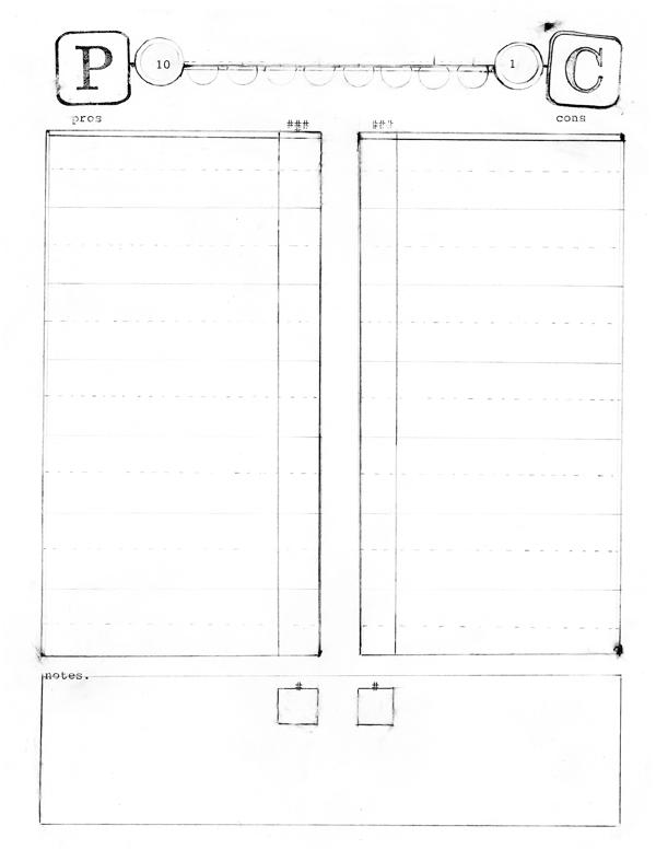 Usmc Pro Con Worksheet Excel
