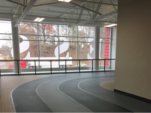 Indoor walking track at Bessemer Recreation Center