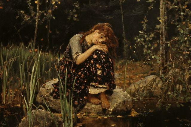 Со временем в восприятии зрителей картина «Аленушка» оказалась связана со сказкой про сестрицу Аленушку и брата Иванушку.