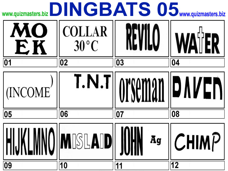 Answers Game Dingbats