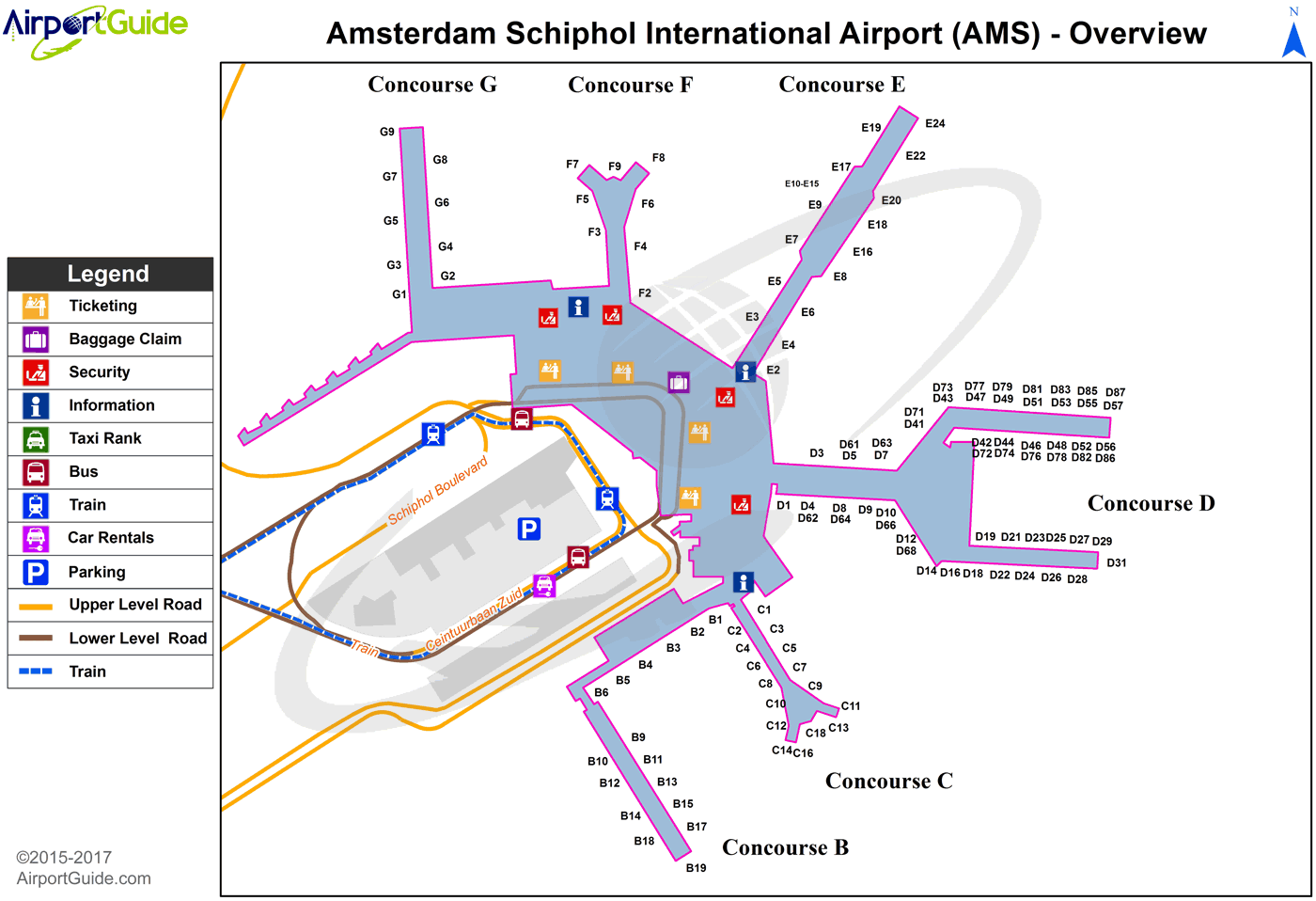 Salt Lake City Airport Parking Map