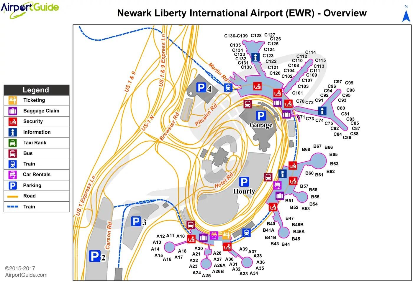 Map United Terminal Ewr