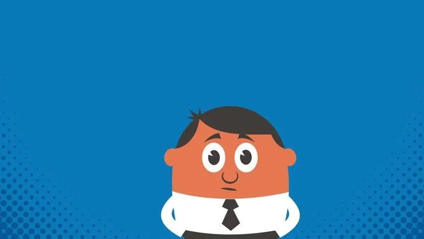 Thinking Cartoon Of Man Thinking Stock Footage Video 100