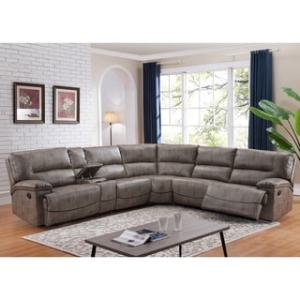 Buy Power Recline Sectional Sofas Online at Overstock com   Our Best     Donovan Sectional Sofa with 3 Reclining Seats