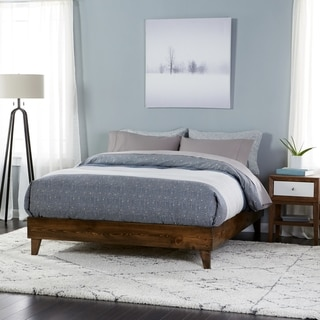 Buy Full Double Beds Online at Overstock com   Our Best Bedroom     Wood Mid century Platform Style Bed