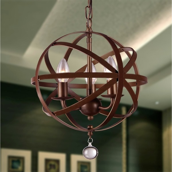 Capital Lighting Axis Collection 4 Light Russet Orb Pendant