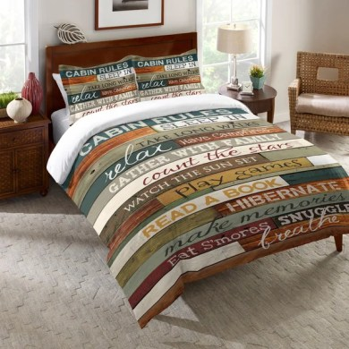 Shop Laural Home Rules of the Cabin Comforter   Free Shipping Today     Laural Home Rules of the Cabin Comforter