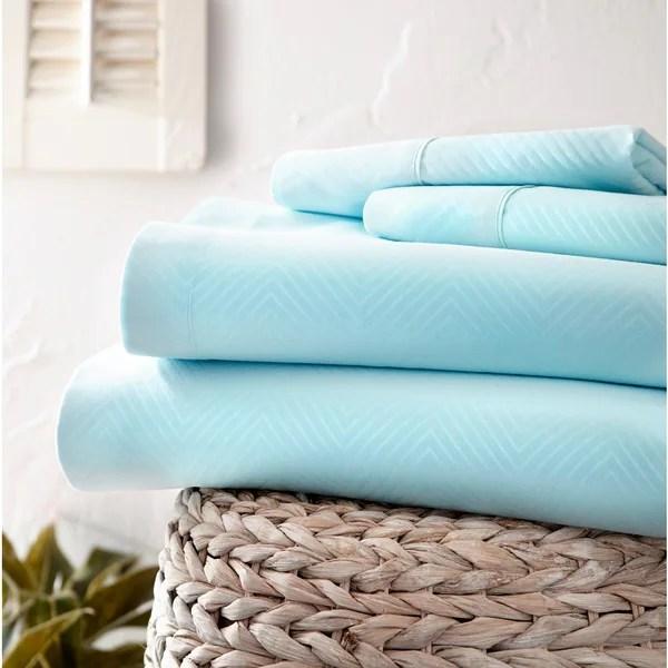 Shop Merit Linens Premium Ultra Soft Chevron 4-piece Bed ...