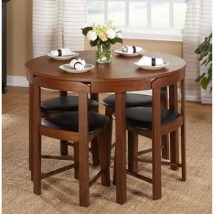 Buy Round Kitchen   Dining Room Sets Online at Overstock com   Our     Simple Living 5pc Tobey Compact Dining Set
