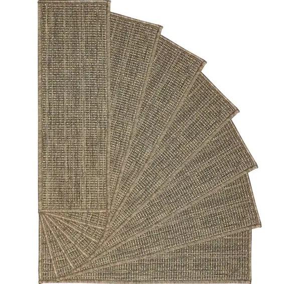 Shop Ottomanson Jardin Collection Jute Back Indoor Outdoor Carpet | Outdoor Carpet Stair Treads | Indoor Outdoor | Flooring | Ottomanson Jardin | Non Skid | Anti Slip